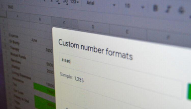 آموزش تغییر و ایجاد فرمت عددی دلخواه در برنامه گوگل شیت
