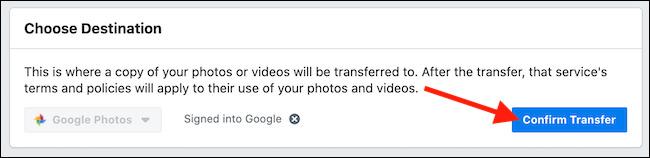 انتقال داده از فیسبوک