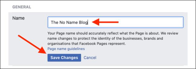 تغییر نام در حساب کاربری فیس بوک