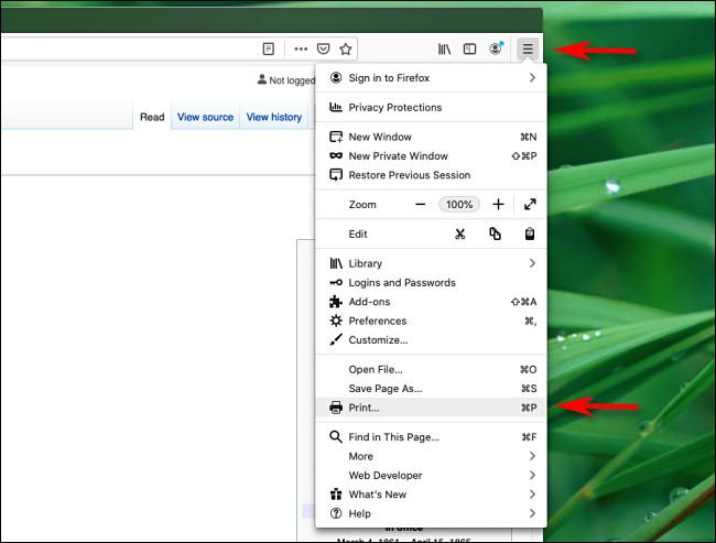 ذخیره صفحه وب با فرمت PDF