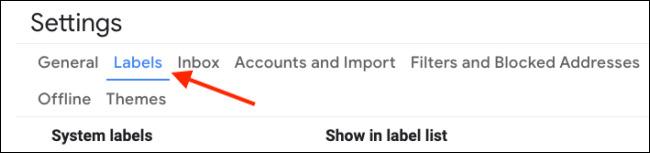 حذف گزینه های جی میل