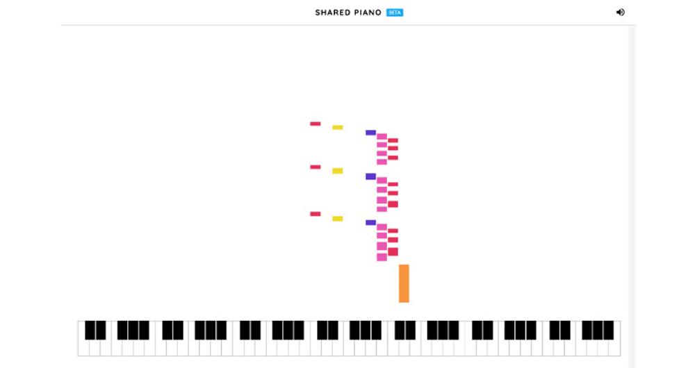 با نسخه آزمایشی Shared Piano کروم با دوستان خود پیانو بزنید