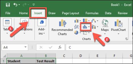 هیستوگرام در Excel