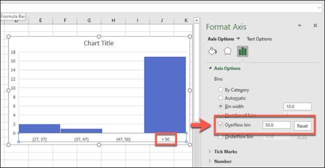 نمودار در Excel