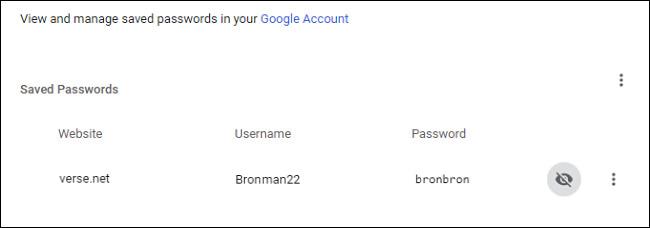 مشاهده رمز عبور