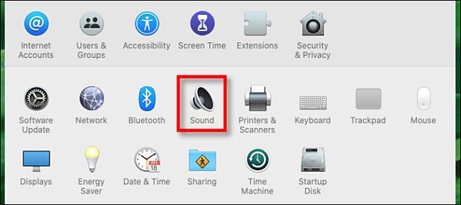 تنظیمات صوتی در مک