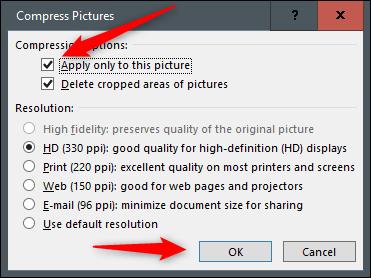 فشردهسازی تصاویر در نرمافزار پاورپوینت