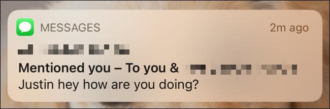 منشن کردن افراد در گروه iMessage