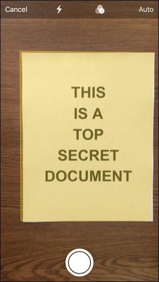 اسکن مدارک با اپلیکیشن Notes