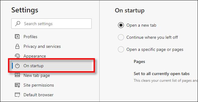 تغییر صفحه Home در مرورگر Microsoft Edge