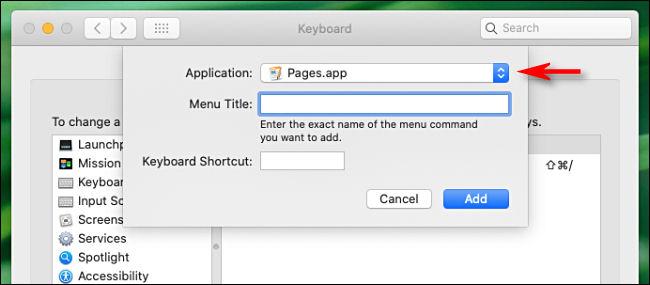 کلید میانبر برای اپلیکیشنهای مک