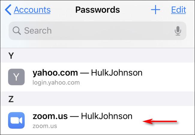 رمز عبور ذخیره شده در سافاری