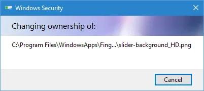 دسترسی به پوشه Windows Apps در ویندوز 10