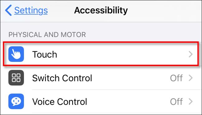 اجرای میانبرهای روی صفحه با استفاده از قابلیت ضربه زدن پشت گوشی آیفون
