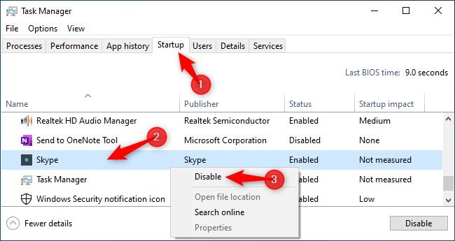 غیرفعال کردن اجرای خودکار اسکایپ