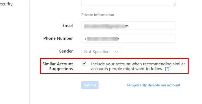 غیرفعال کردن امکان پیدا کردن ID اینستاگرام شما