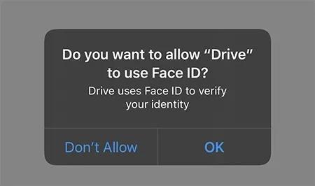 افزودن قابلیت Face ID به گوگل درایو در آیفون