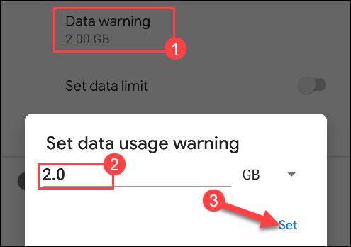 مشاهده میزان مصرف دادهها در سیستمعامل اندروید