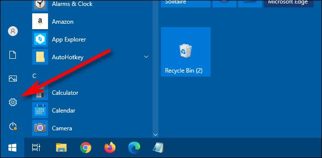 تغییر رنگ منوی Start در ویندوز 10