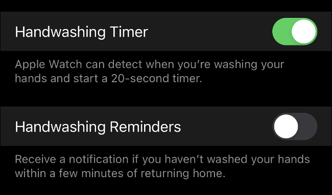 قابلیت شستشوی دست در ساعت هوشمند اپل