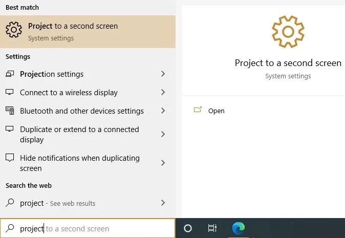 استفاده از مانیتور لپتاپ به عنوان صفحهنمایش جداگانه در ویندوز 10
