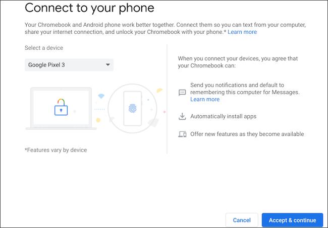 ارسال پیام متنی در Chromebook
