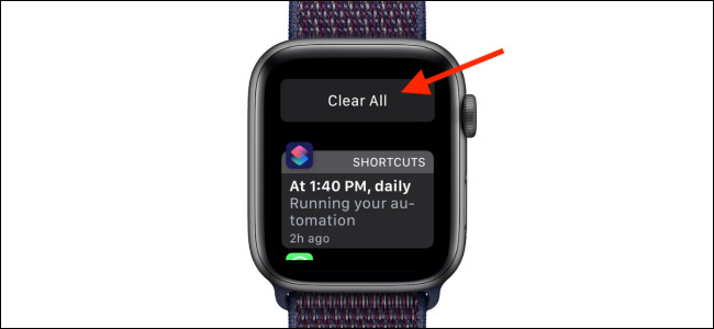 پاک کردن نوتیفیکیشنها روی اپل واچ