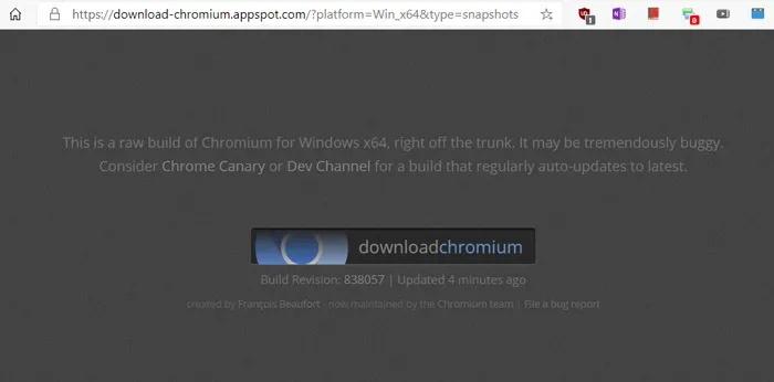 نصب اپلیکیشن Chromium