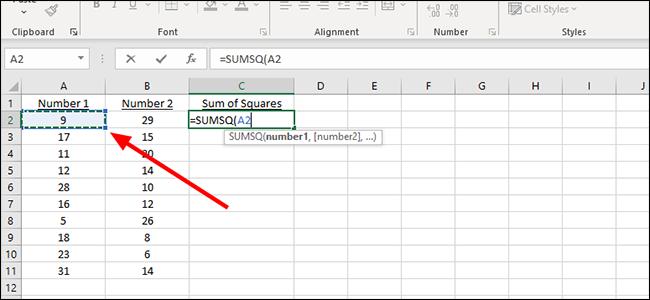 محاسبه مجموعه مربعات