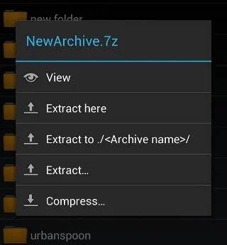 اکسترکت کردن فایل در اندروید