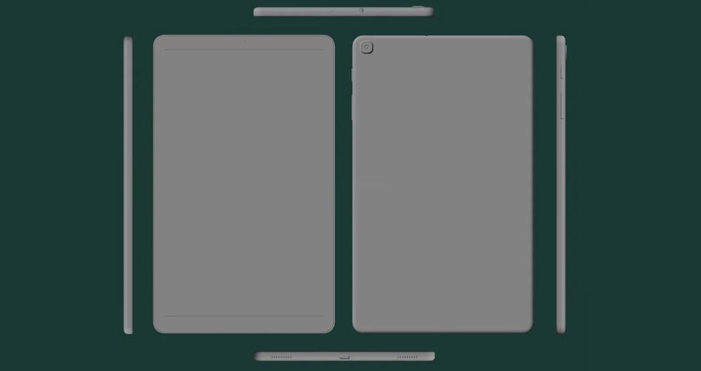 انتشار رندرهای جدید از گلکسی تب A 10.1 سامسونگ