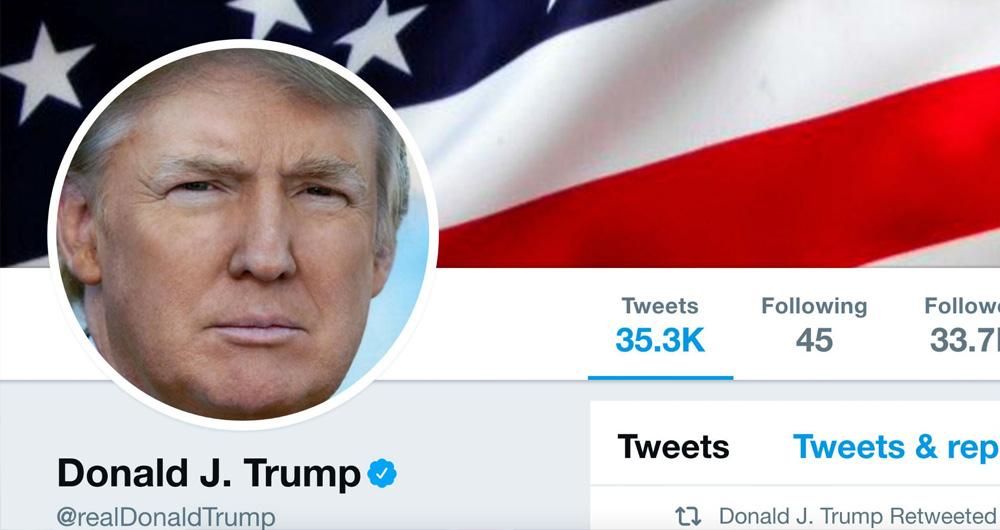 حساب توییتر دونالد ترامپ موقتا به حالت تعلیق درآمد