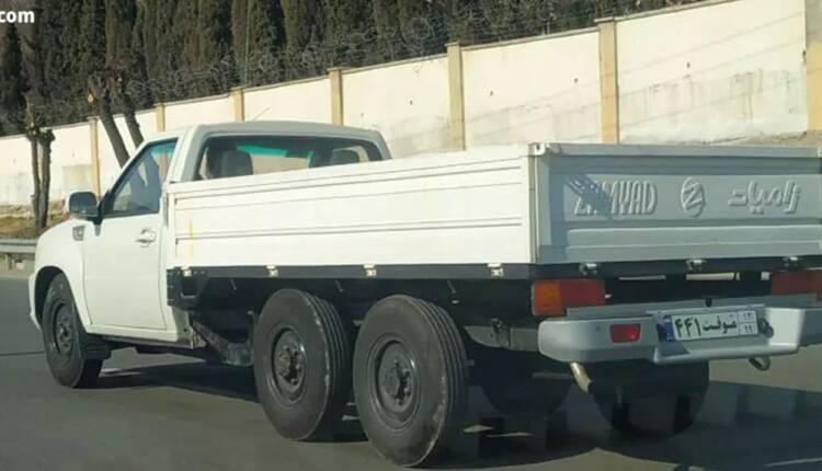 برخی تصاویر منتشرشده در فضای وب، خبر از تست فنی وانت شش چرخ سایپا (زامیاد) با پلاک عبورموقت در خیابانهای تهران میدهند.