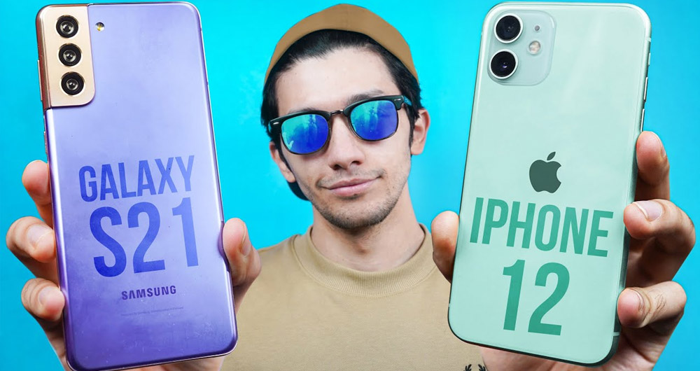 گلکسی S21 سامسونگ و آیفون 12 اپل : مقایسه مشخصات ظاهری و فنی