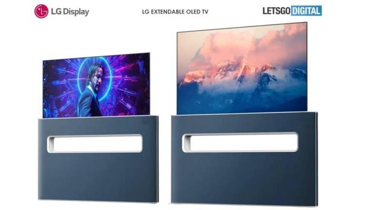 پتنت جدید ال جی به طراحی تلویزیون اولد جمع شونده اشاره می کند