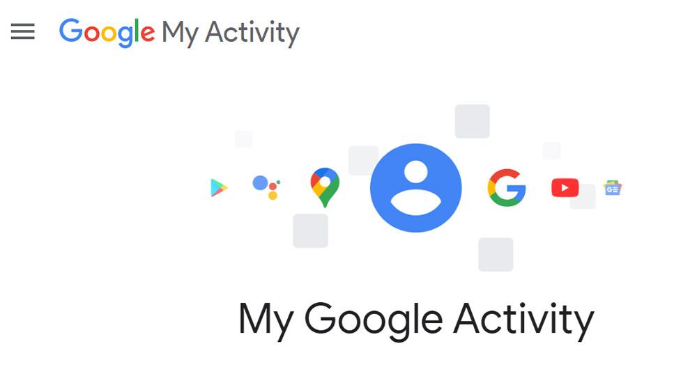 صفحه My Activity پروفایل گوگل