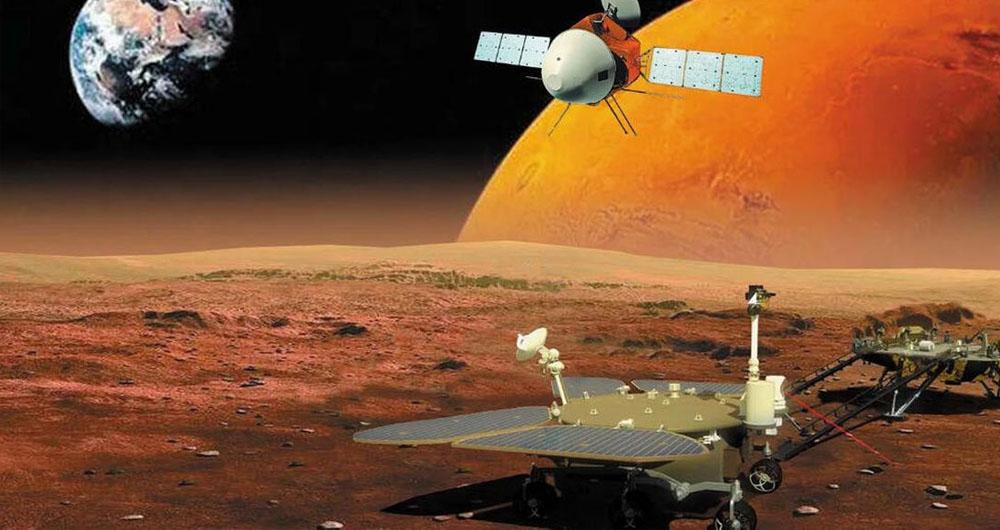 مریخ نورد ژورانگ با موفقیت قدم در سیاره سرخ گذاشت
