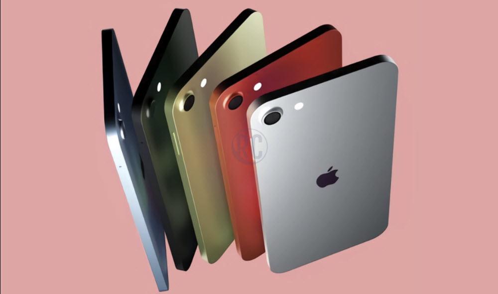 رندرهای جدید آیپاد تاچ اپل به رنگ بندی متنوع اشاره دارد