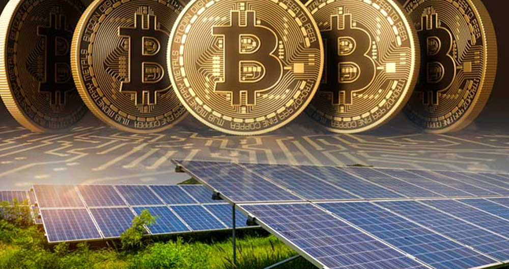 انرژی خورشیدی برای استخراج رمزارزها