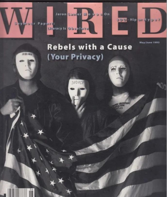 تصویری از سایفرپانکها در جلد مجله وایرد در سال 1993
