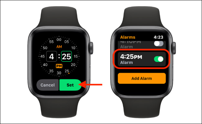 نحوه تنظیم آلارم با ساعت اپل واچ