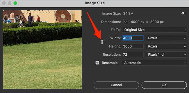 نسبت تصویر در فتوشاپ