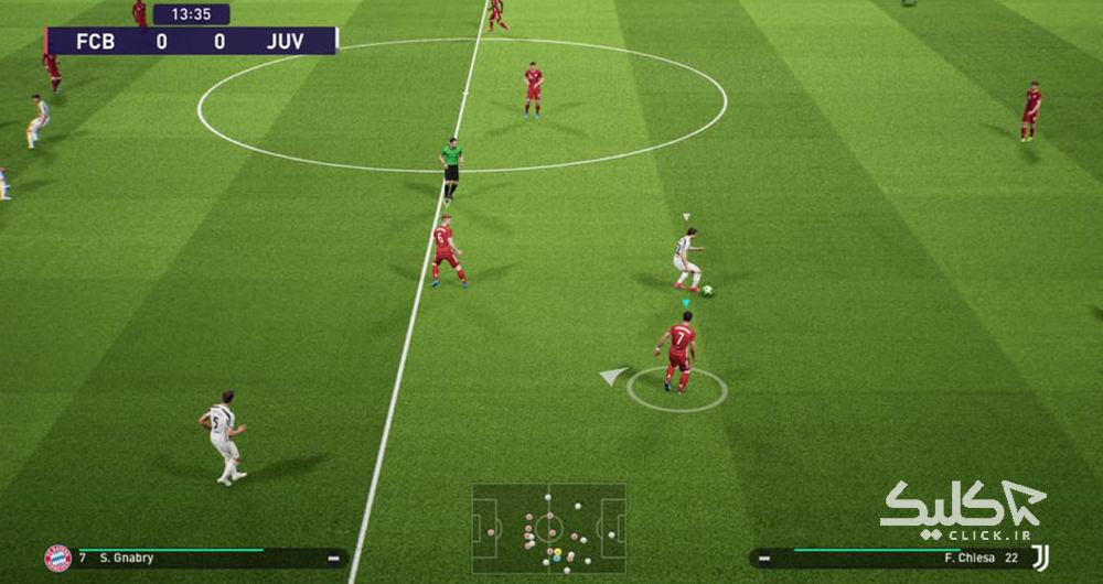 گیمپلی بازی PES 2022