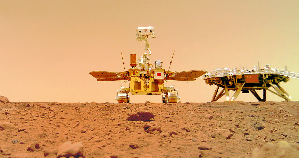 کاوشگر ژورانگ یک تصویر سلفی جدید را به زمین مخابره کرد