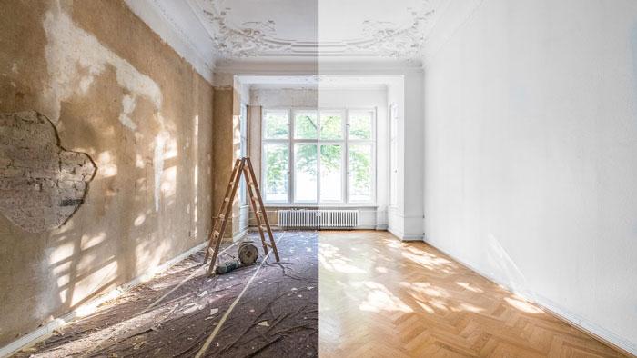 کاهش هزینه بازسازی خانه