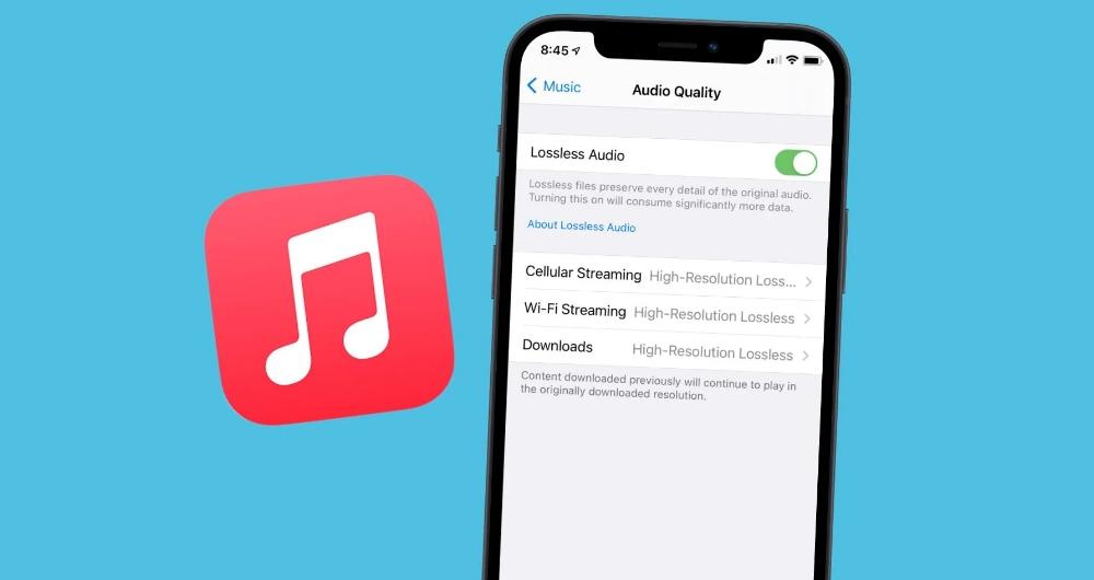 تغییر کیفیت صدا اپل موزیک