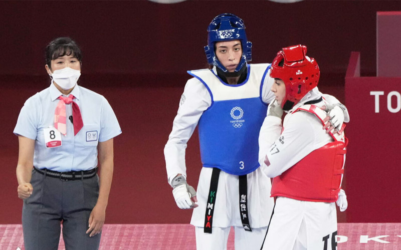 کیمیا علیزاده نماینده کشورش را شکست داد