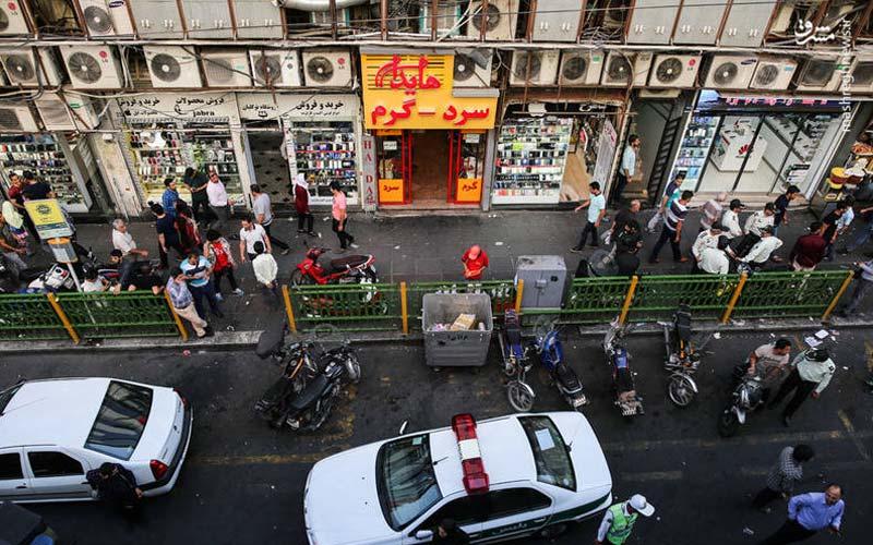 علت تجمع خیابان جمهوری امروز