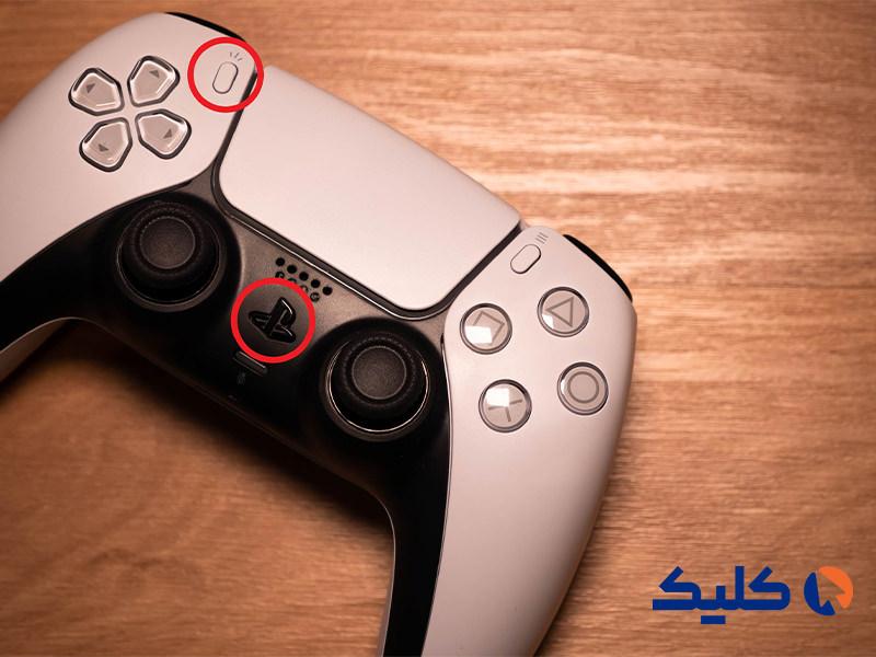 اتصال کنترلر PS5 با بلوتوث