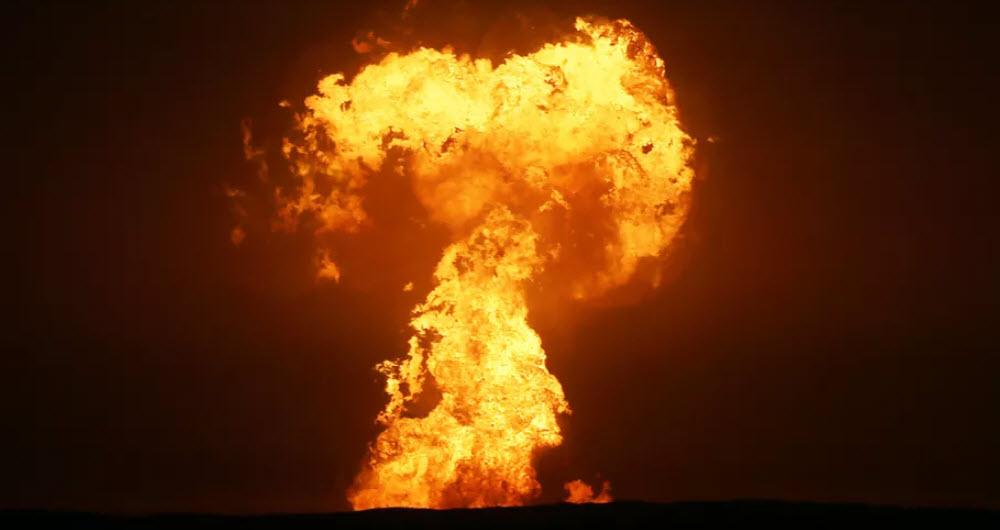 انفجار در دریای خزر